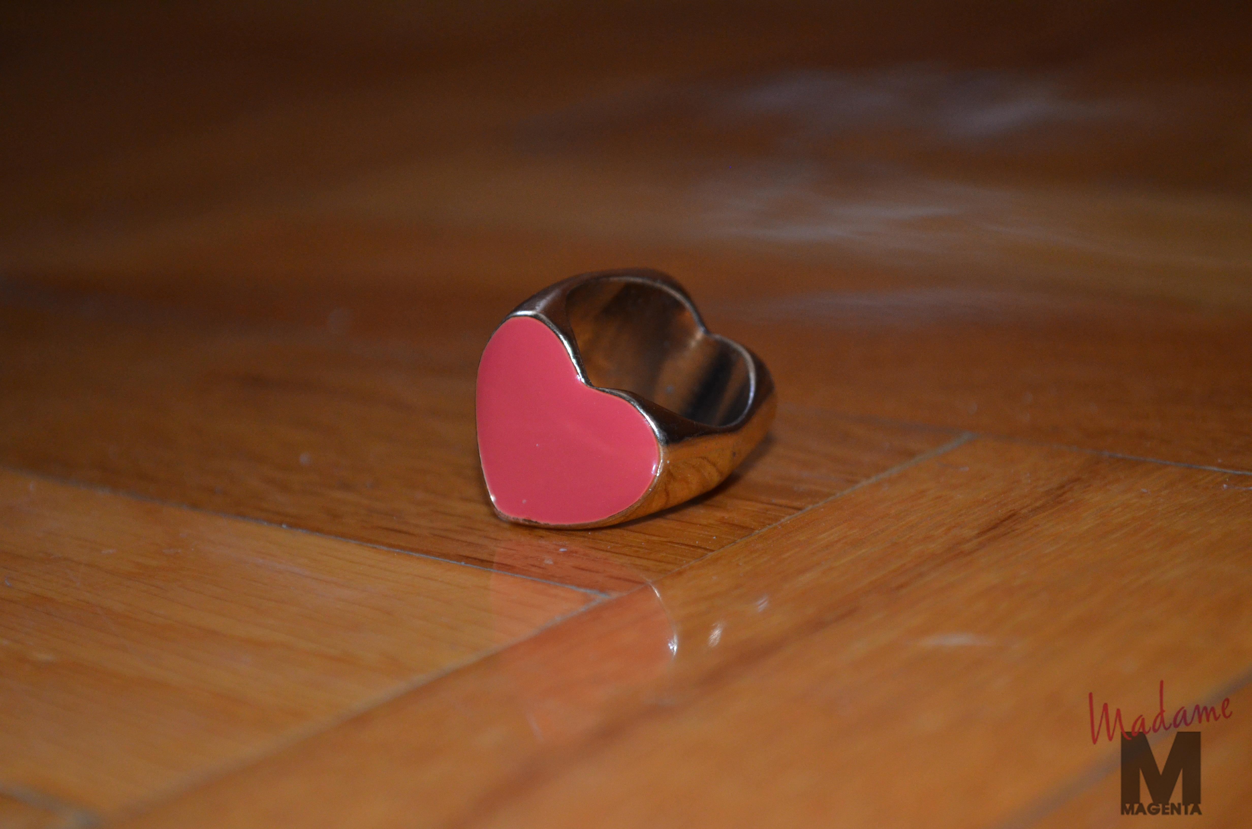 anillo bershka heart ring
