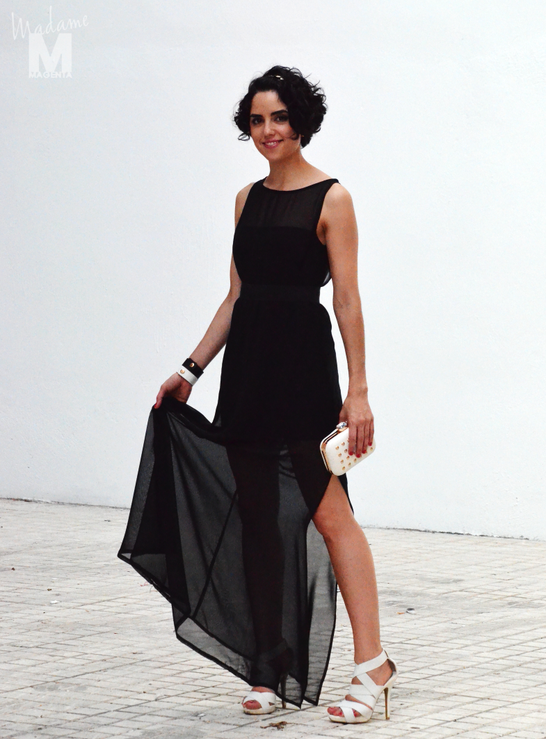 big black dress Libertad Pertierra vestido negro largo 1