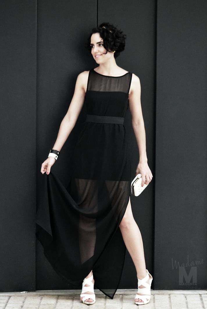 big black dress Libertad Pertierra vestido negro largo 6