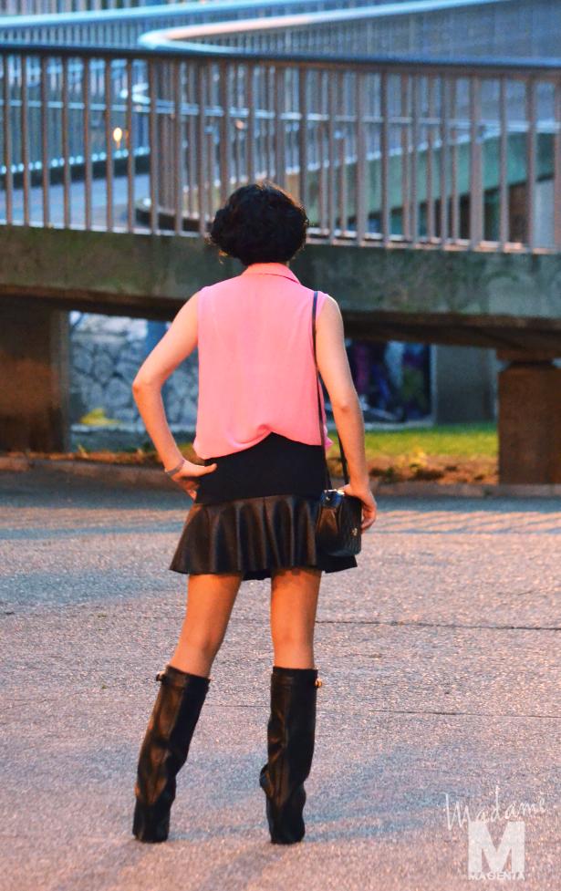 Libertad Pertierra primark fluo blouse zara leather skirt 5
