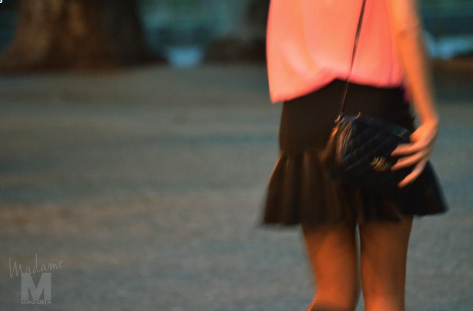 Libertad Pertierra primark fluo blouse zara leather skirt 7